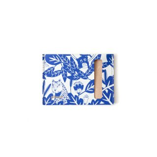 Wallet S -Grey and Blue Jungle-