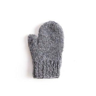 フェアトレード/手袋 ミトンタイプ / グレー