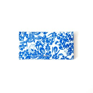 Wallet L -Grey and Blue Jungle-