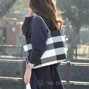 平編みメッシュトートバッグ