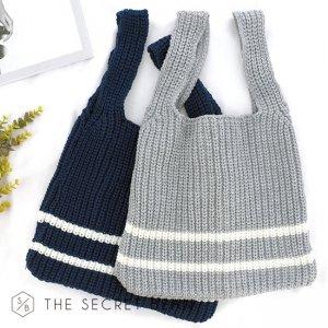 【ゆうパケ】2color◆ニットショッパーバッグ
