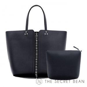 【新春特別価格】2点セット◆2way◆ミニバッグ付きチェーンデザイントートバッグ