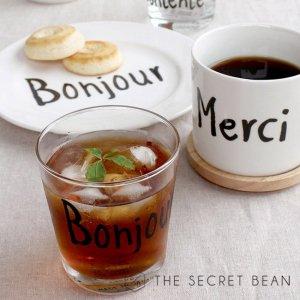 【CASA&CASA】Bonjourロゴグラス