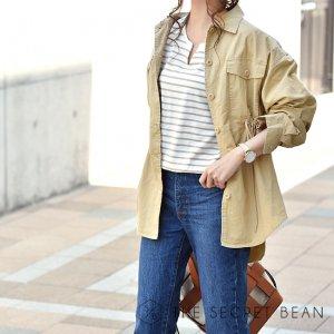 【期間限定価格】【ゆうパケ】コットンツイルドローストリングシャツジャケット