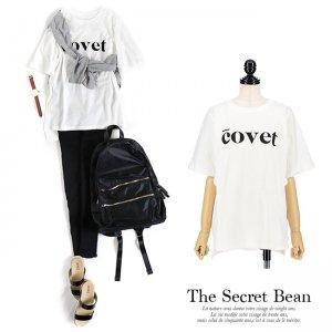 【ゆうパケ】covetロゴゆるTシャツ(ホワイト)