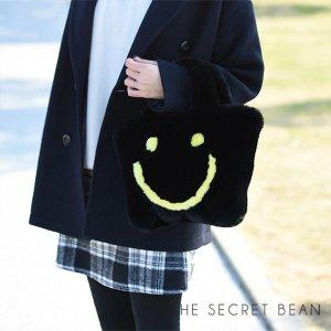 【ゆうパケ】エコファーニコちゃんトートバッグ(ブラック)