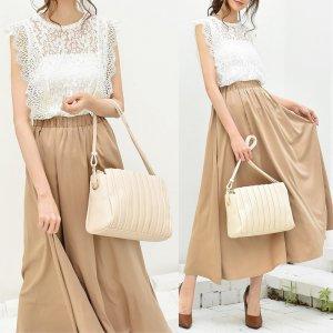 【SALE】【ゆうパケ】3color◆ヴィンテージサテンフレアスカート