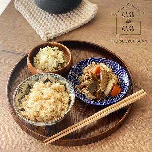 【CASA & CASA】天然木丸盆(濃い茶)