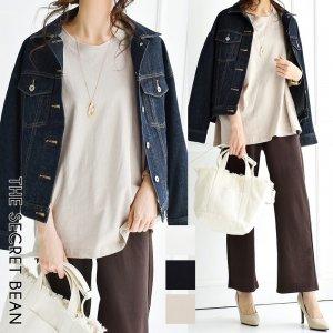 【ゆうパケ】3color◆天竺5分袖シンプルゆるTシャツ