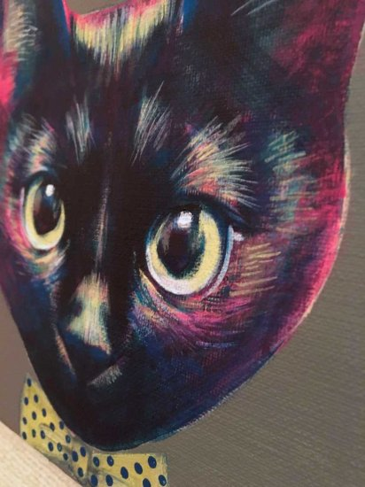 アート,絵,猫