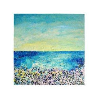 青い空と海の絵