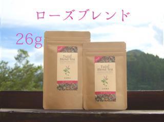 トゥルシーブレンドティー【ローズ】宮崎県産ホーリーバジル使用 26g