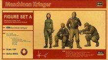 ハセガワ 1/20 Ma.K.フィギュアセット A  傭兵軍 寒冷地仕様 整備兵