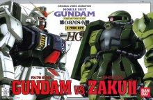 HG 1/144 RX-79 ガンダム vs MS-06J ザク II