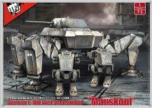 No.12 1/72 ドイツ軍 E-100 ゼクスフースラー型 �マウスコプフ�+ 二脚歩行兵器 FIST OF WAR
