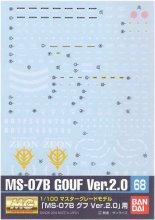 No.68 1/100 MG MS-07B グフ Ver.2.0用 ガンダムデカール
