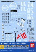 No.21 1/100 MG ガンダムセンチネルシリーズ用 ガンダムデカール