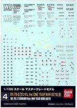 No.04 1/100 MG ガンダム Ver.ONE YEAR WAR 0079用 ガンダムデカール