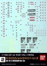 No.02 1/100 MG ガンダム Ver.Ka用 ガンダムデカール