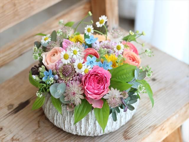 ギフト 薄いセメント花器