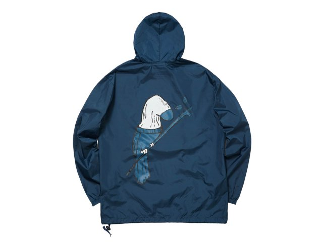 SOCK BIRD NYLON PACKABLE ANORAK NAVY