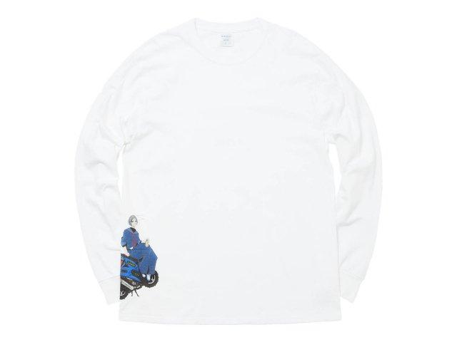 HIROSUE L/S TEE WHITE