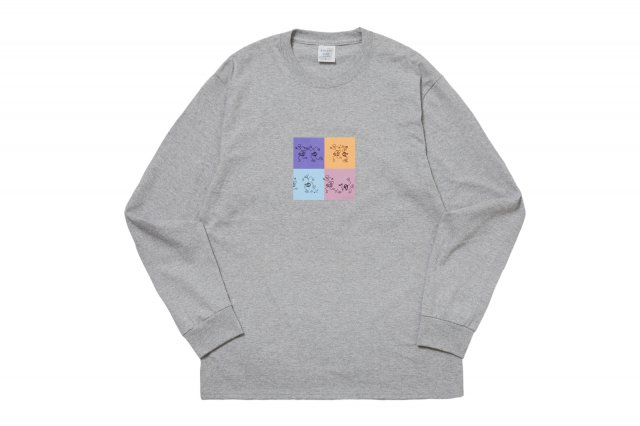 PLUG IT IN L/S TEE HEATHER GREY