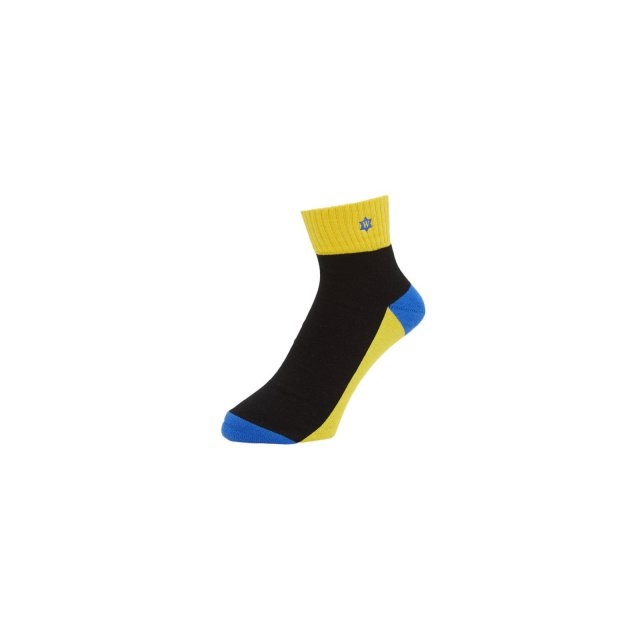 WHIMSY / VERSE HEADS SOCKS YELLOW