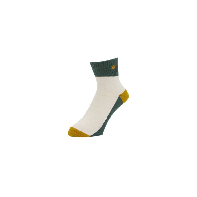 WHIMSY / VERSE HEADS SOCKS GREEN