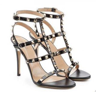 studs sandals heel  10cm plussize