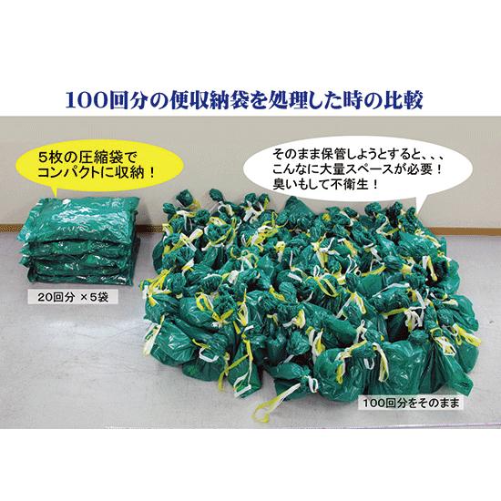 汚物圧縮保管袋セット(空気抜きセット)