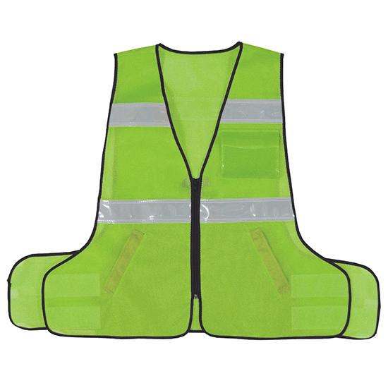 パトロールベストネオ 差し替え式 蛍光グリーン