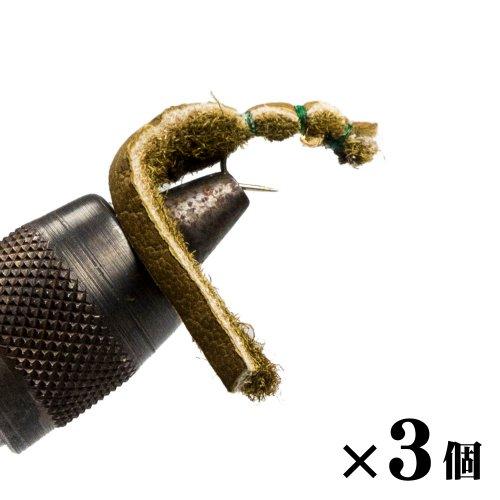 トラウトレザー�ペレットオリーブ×3