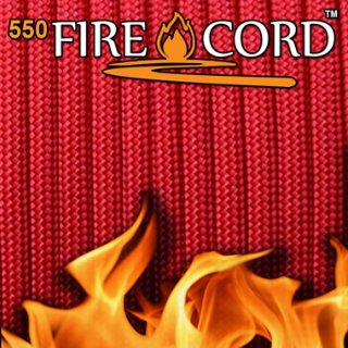 Live Fire Gear 550 Fire Cord ソリッドレッド