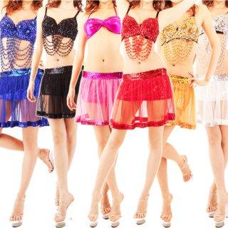 シースルーミニスカート スパンコール装飾