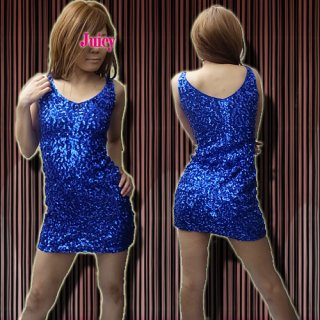 【SALE】スパンコールVネックミニワンピース ドレス