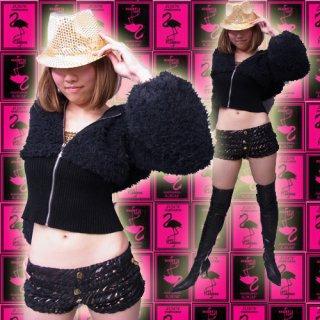 【SALE】ゴージャスファの暖か極リブパーカージャケット