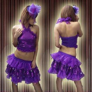 ステージ衣装セットアップ フリル&スパンコール