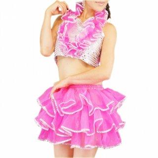 スパンコールボリューム衣装フリルセットアップ全6色