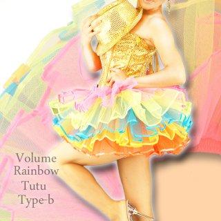 5段レインボーチュールパニエ ミニスカート バーレスク衣装 アイドル衣装