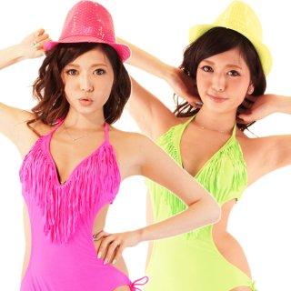 ダンス衣装 ネオンカラースパンコールハット中折れ帽子