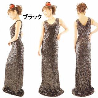 エレガントなスパンコールロングドレス