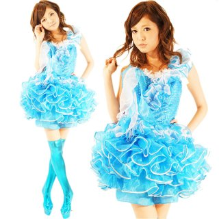 リアルバービー風ボリューミーアイドルドレス