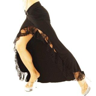シルエットが美しいウエストV地カットデザイン/ラインストーン装飾が光る♪SEXYシースルーレース/美しく大胆なスリット入りスカート