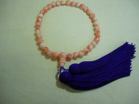深海珊瑚(桃珊瑚) 片手数珠