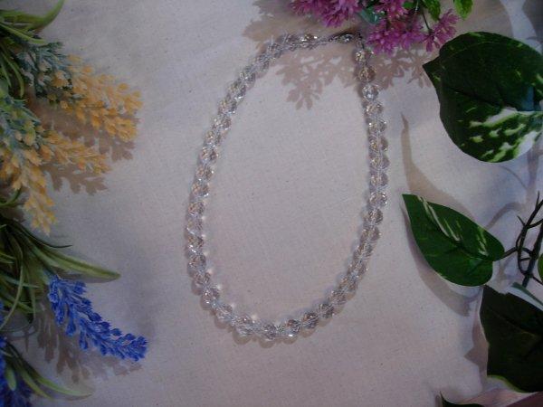 天然石 水晶カット ネックレス