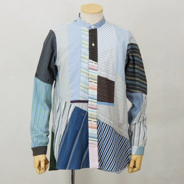 Rebuild by NeedlesBand CollarPatchwork Shirt
