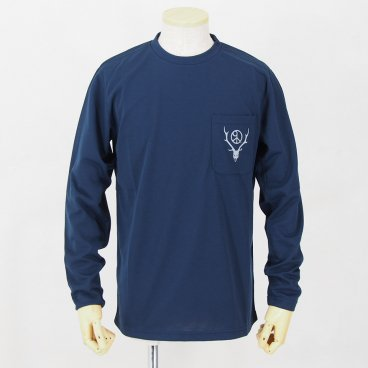 South2 West8<BR>Round Pocket L/S Tee<BR>Circle Horn<BR>Navy<BR>