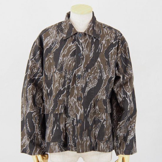 NeedlesBush JacketC/L CanvasCamouflage PrintTiger Camo