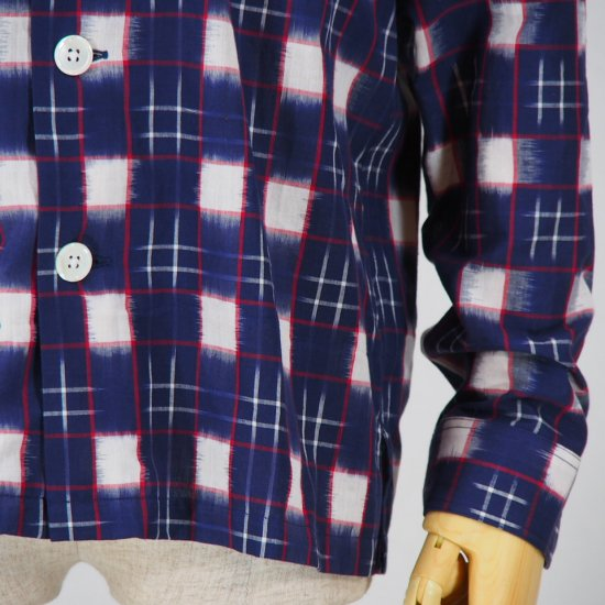 South2 West8Smoky ShirtSplashed PlaidNavy/White